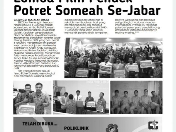 Juara Utama Lomba Film Pendek Potret Someah Se-Jabar
