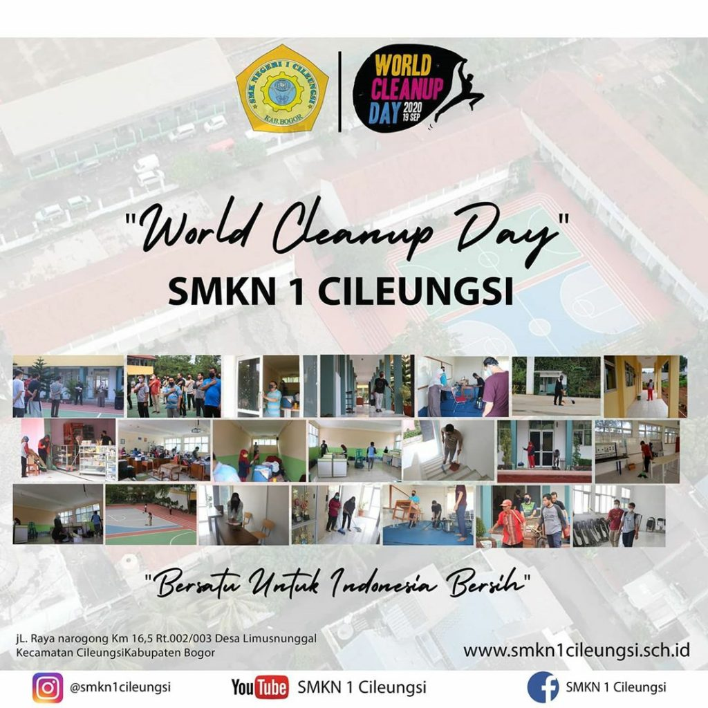 Wordl Cleanup Day SMKN 1 CILEUNGSI